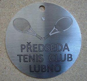 Nerezová medaile - laserové gravírování - www.gravirhk.cz