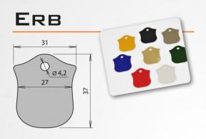 """Psí známka z eloxovaného hliníku - """"erb"""" v různých barvách"""