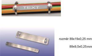 Nerezové kabelové identifikačí štítky - rozměry