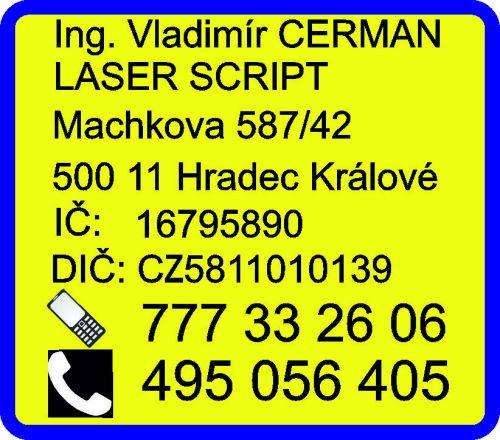 Ing. Vladimír Cerman LASER SCRIPT - kontakt
