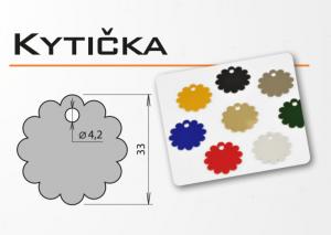 """Psí známka z eloxovaného hliníku - """"kytička"""" v různých barvách"""