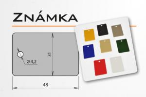 """Psí známka z eloxovaného hliníku - """"známka"""" v různých barvách"""