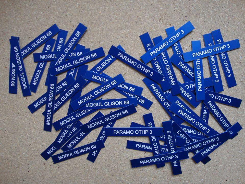 Hliníkový eloxovaný modrý štítek