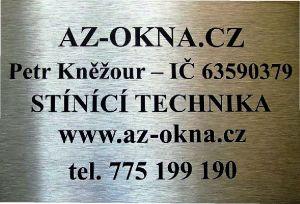 22 A7 - Nerezová cedule 105x74x1,5 mm, povrch jemný brus s gravírováním, černé provedení