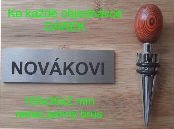 jmenovky na dveře
