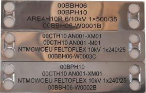 Nerezový kabelový štítek s gravíroávním