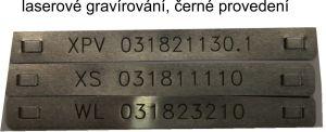 899c  Nerezový kabelový štítek 89x9x0,25 mm včetně gravírování + černé provedení
