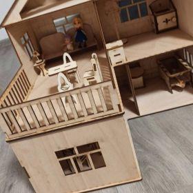 Dřevěná hračka pro děti - domeček pro panenky.