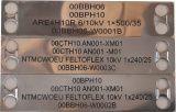 Nerezové kabelové štítky s gravírováním