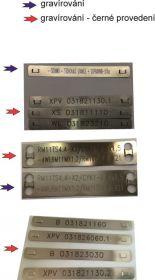 Nerezový kabelový štítek - varianty štíků a monžosti značení
